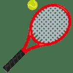 硬式テニスラケットとボール