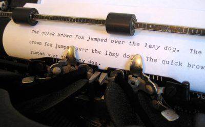 タイプライター印字